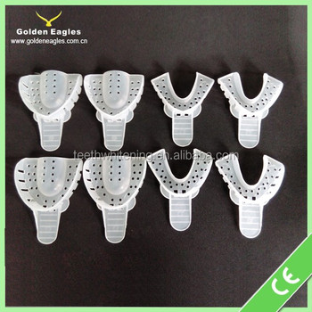Dental use disposable impression denture trays