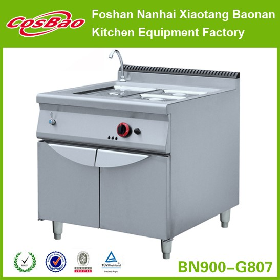 Restaurant Equipment Free Standing 2 Tanks Stainless Steel Gas Deep Fat Fryer With Cabinet BN900-G801