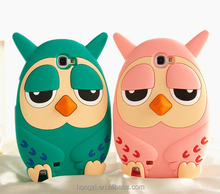 3D Cartoon animals cute Owl soft silicone case cover For Samsung Galaxy Note2 N7100/Note3 N9000