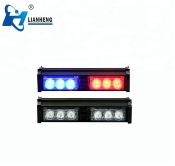 "30LED 36"" Long Bar Dual Color Flash Emergency Warning Grill Traffic Advisor Strobe Light Bar white red"
