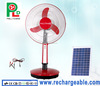 Solar Table Fan Standing Fan with Solar Panel and Bright LED Light Made in China PLD-31T