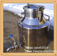 Metal Milk Bucket, Pharmaceutical storage cans, stainless steel milk cans