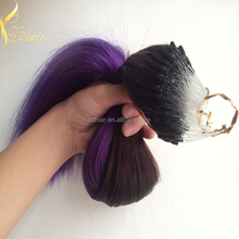2015new fashion 1.5g peruvian hair extension micro ring hair extensions for blacks