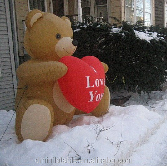 outdoor inflatable valentine decoration/inflatable bears decoration