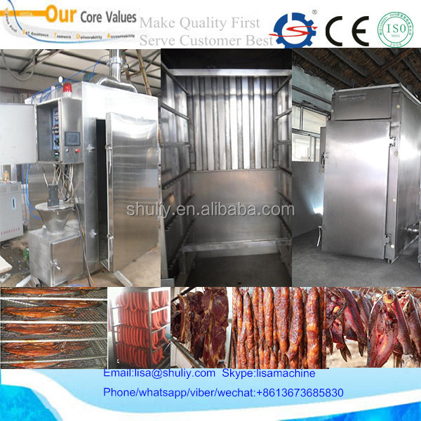 Commercial High Efficiency Sausage/Fish/Chicken Smokehouse For sale 008613673685830