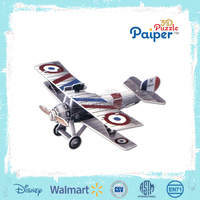 3d diy flying model paper puzzle toy plane