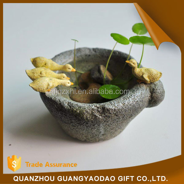 Art & Collectible resin cabochon in resin craft animal resin craft plant pot garden decoration