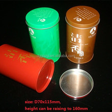 custom printed round tea tin cans