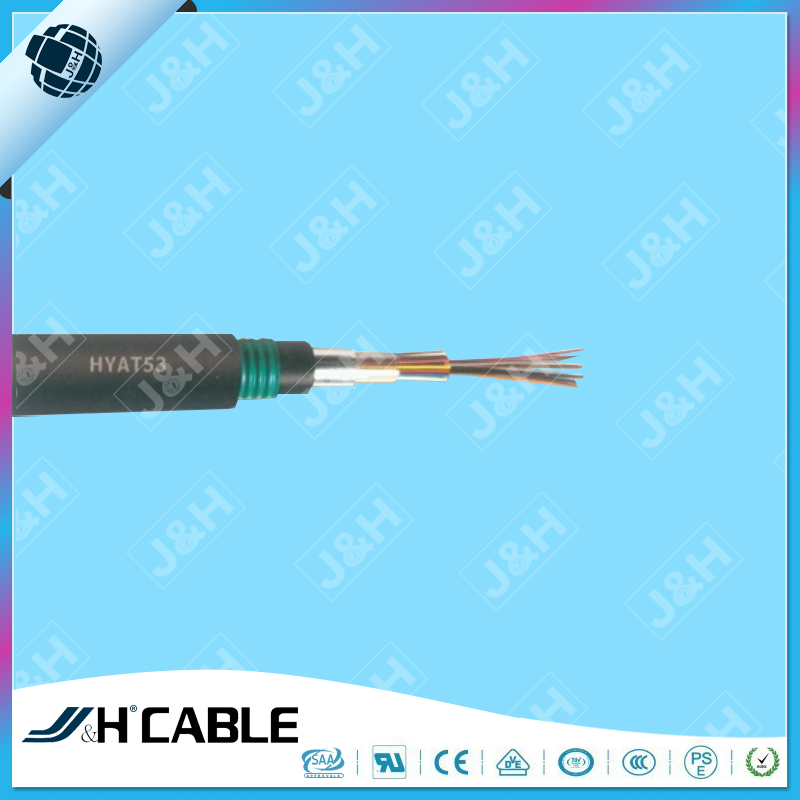 Underground Armoured HYAT53 Telephone Cable Jelly filled