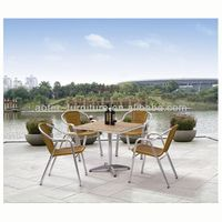 Outdoor furniture modern rattan patio dinner set