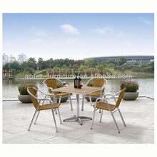 Outdoor furniture modern rattan patio dinner table and chairs