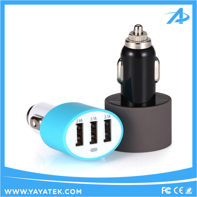 Phone Parts USB Home Car Charger For Sale Portable Mobile Battery 3 Port Intelligent Smart Car Battery Charger