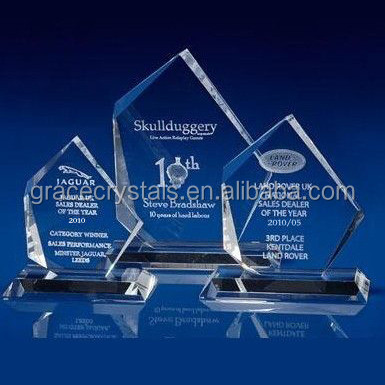 Crystal 3D Engraving crystal iceberg trophy plaque