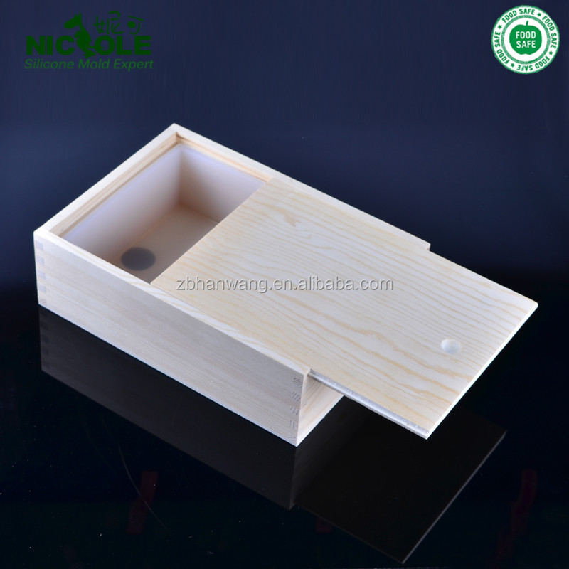 2016 New Hot Wood Soap <strong>Mould</strong> With Silicone Liner Soap Making Large Loaf Mold