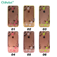 2016 Best Sell silicone phone case,Electroplate Bumper Frame with soft tpu case For iPhone 7