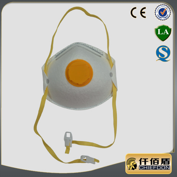 PU nose bridge active carbon p3 dust mask with valve