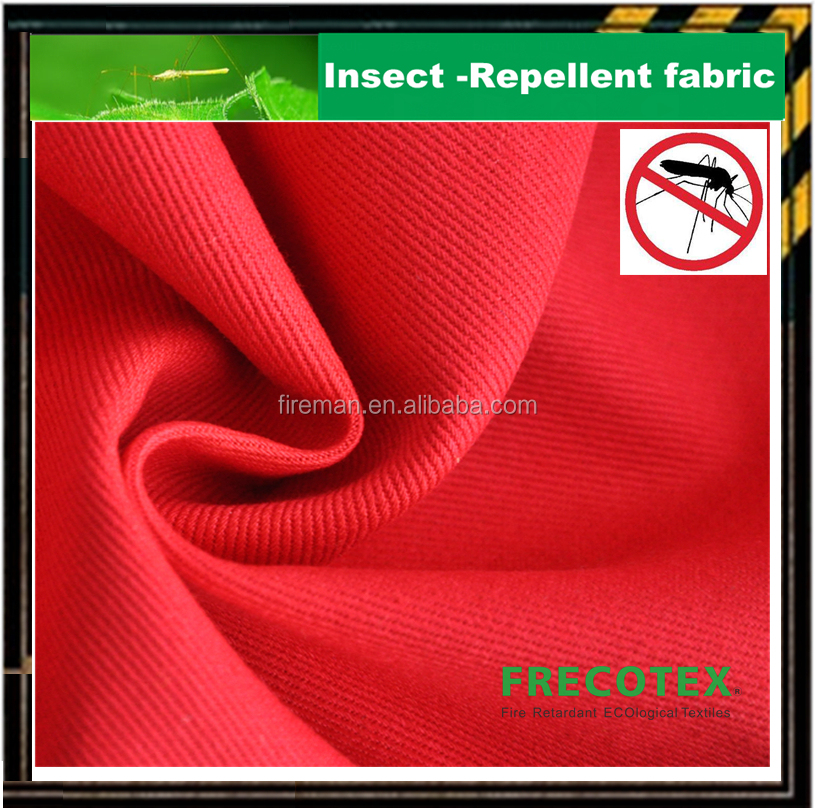 Insect & Bacteria protection Special textile manufacturer cotton fire resistant cloth with anti-mosquito function