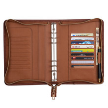 A3 zippered letter size padfolio business pu leather portfolio