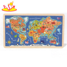 wholesale baby wooden world map puzzle fashion kids wooden world map puzzle children wooden world map puzzle W14C138
