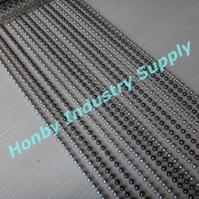 6mm Metal Beaded Silver & Gunmetal Ball Chain Stripe Curtain