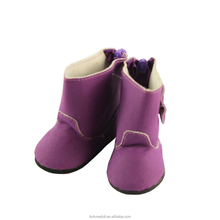 JC039-18inch doll winter purple doll boot shoes- doll manufacturer china-wholesale china