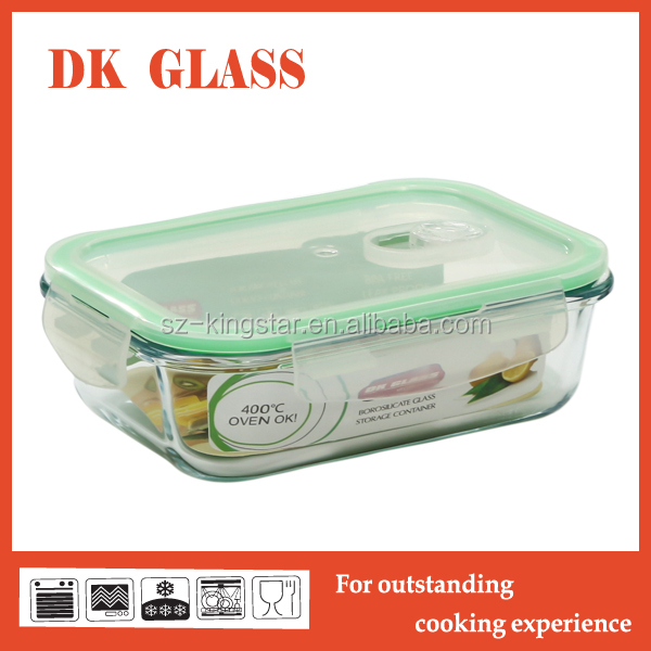 Microwave Safe Rectangular High Borosilicate Glass Food Storage Container/Pyrex Glass Food Packaging Bento Lunch Box