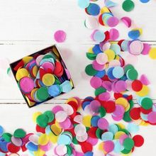Biodegradable circle tissue paper confetti for wedding decoration