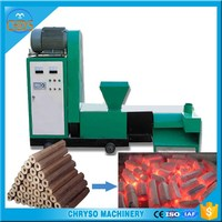 Sawdust wood charcoal rods briquette making machine for sale
