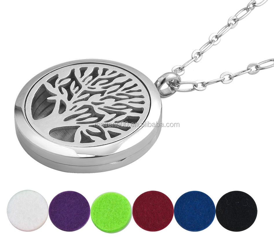 316l stainless steel jewelry necklace aroma aromatherapy fragrance scent perfume essential oil diffuser locket pendant necklace