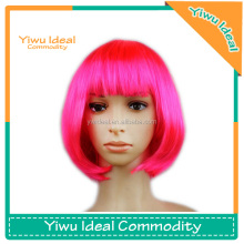 Pink Cheap Short Bob Cosplay Female Synthetic Wig