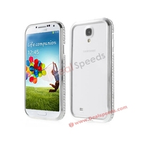 Diamond PC + Metal Blackless Bumper Cases for Samsung Galaxy S4
