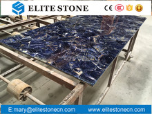 Sodalite semi precious stone slab for wall tile,table top,floor tile