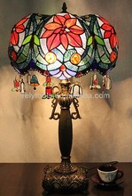 Handcraft pastoral stained glass tiffany lamp