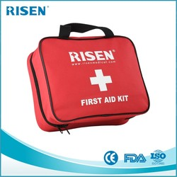 large Travel First Aid Kit with many pockets