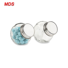 Wholesale cheap mini candy glass favor jar with screw top