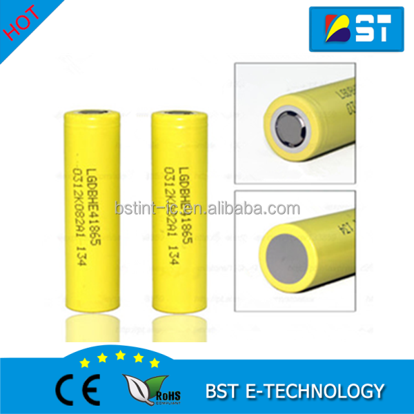 Original LG 18650 he4 3.6V Battery 2500mAh 20A high drain LG HE4 / lg18650he4 battery cigarette power tools