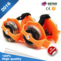 factory supplier light up wheels durable detachable inline skates attached to shoes
