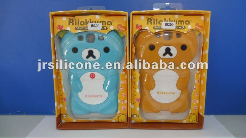 Lovely silicone rilakkuma phone case for samsung galaxy s3 i9300