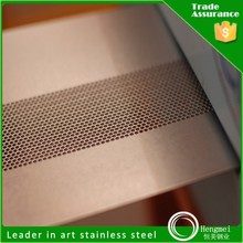 2015 hot selling 201 diamond hole stainless steel perforated plate for kitchen equipment