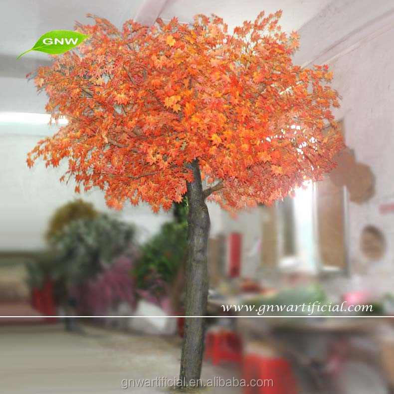 Artificial Maple Tree Plastic Red Leaves for Show Hall Decoration Factory Wholesale BTR1101 GNW