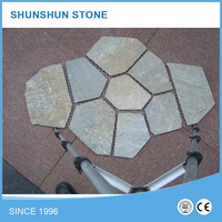 Natural Rusty Slate Flooring Tiles with Mesh for Paving