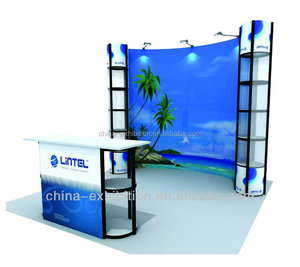 Professional aluminum Pop Up Stand with PVC Banner