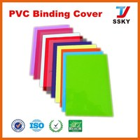 A4 pvc binding cover for office/pvc book cover with pocket