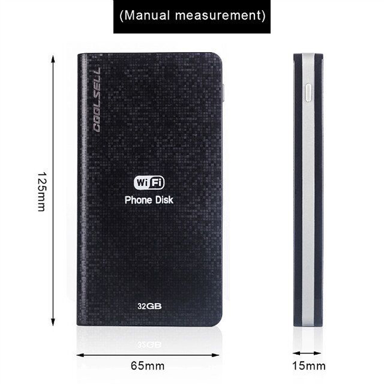 Shenzhen Coolsell premium 4 in 1 memory card 32GB external storage wifi cloud with power bank for Android/ISO devices