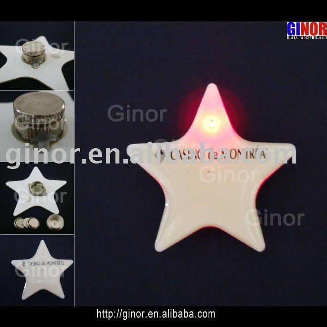 star led glowing badge