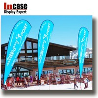 Incase Outdoor promotional customized advertising beach flag for event activities