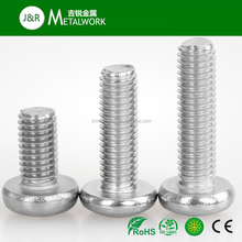 Stainless Steel Phillips/Cross Recessed Pan Head Thread Cutting Screw DIN7985