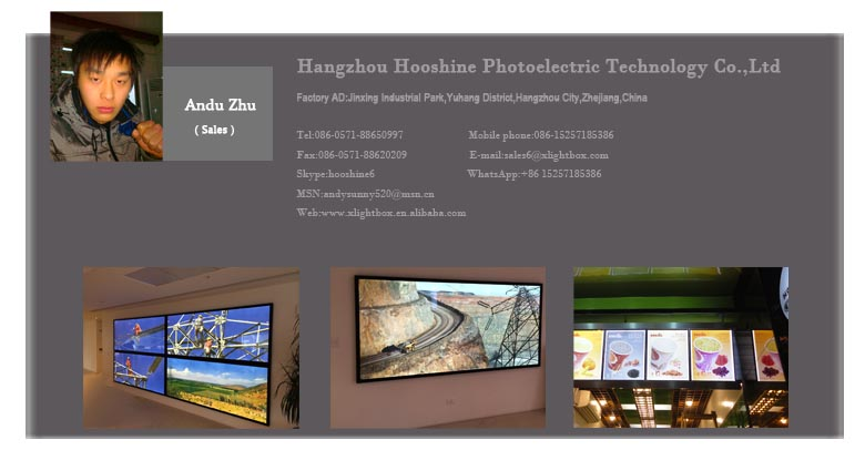 display super slim lightbox with acrylic LGP/LED light box