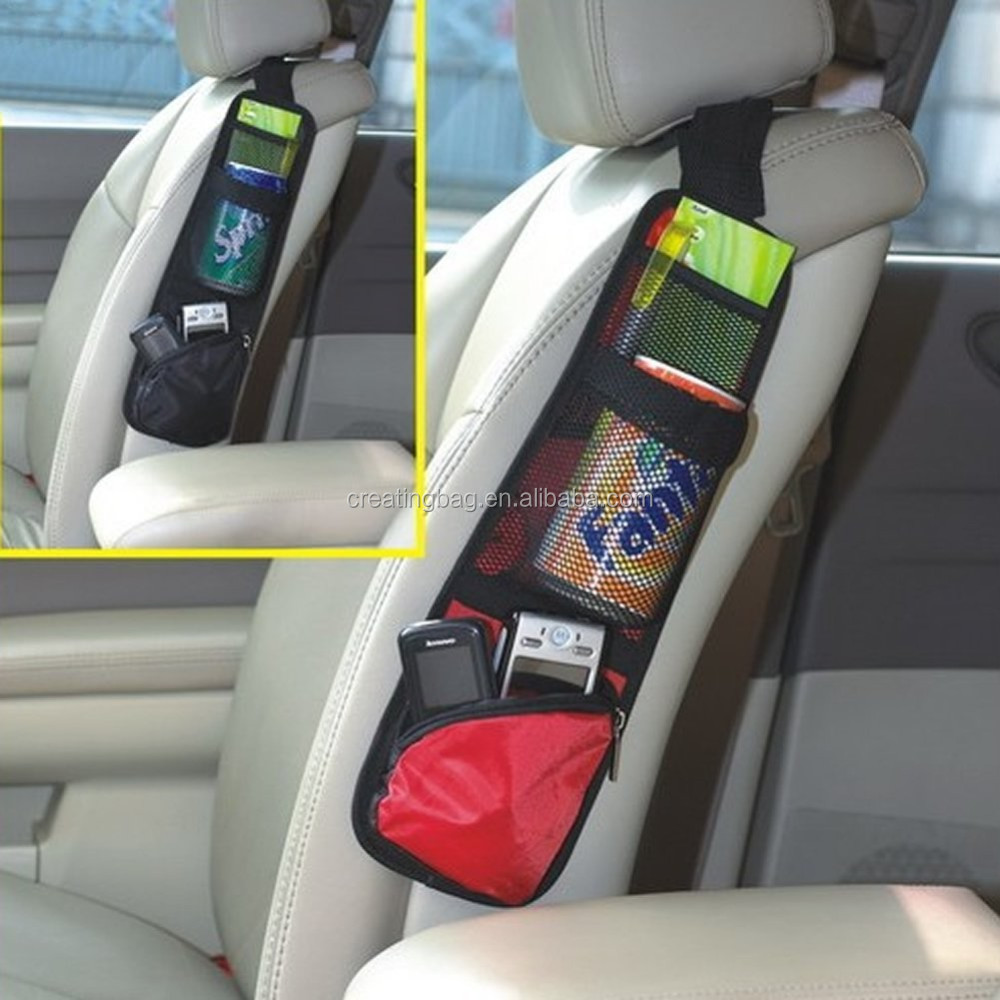 Car Auto Seat Side Back Storage Pocket Holder Backseat Organizer Bag Hanger (Black)