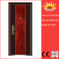 SC-S104 Indian Main Door Designs Entrance Steel Doors